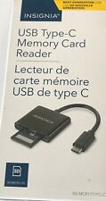 Insignia USB-C to SD / Micro SD Card Reader Type-C for USB-C Macbook, Android