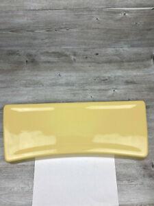 Vintage Eljer Toilet Tank Lid 5540 191 697, 2195 March 1975 Yellow