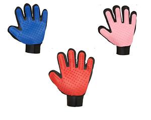 Pet Grooming Glove Deshedding Five Finger Design Cats Dogs SINGLEPAIR RIGHT LEFT