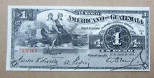 1918 El Banco Americano de Guatemala 1 Peso bank note AU UNC huge sale scarce
