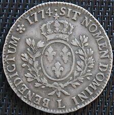 LOUIS XV ECU A LA VIEILLE TETE 1774 L BAYONNE