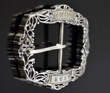 Custom .925 Sterling Silver Belt Buckle Made in U.S.A.affordable luxury designer