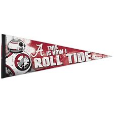 "ALABAMA CRIMSON TIDE STAR WARS BB-8 THIS IS HOW I ROLL TIDE PENNANT 12""x30"" NEW"