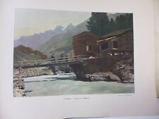 Suisse: Gravure 19° in folio couleur /Vallée de Zermatt