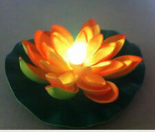 LED Floating Lily  Pad Lights Orange Color-changing lights Fast shipped from GA