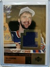 2002 Upper Deck Foundations Classic Greats Jersey Bill Ranford (033/150) Oilers