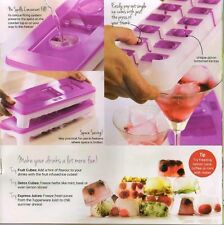 2 x New Tupperware Cool Ice Cube Plastic Tray with Opening Lid Contain 14 Cubes