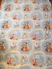 Vintage 1982 E.T. Movie Twin Flat Bed Sheet Et Alien Cutter Fabric Craft