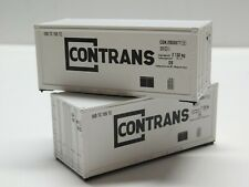 HO Scale - Athearn - Lot of (2) 20' CONTRANS Intermodal Shipping Containers