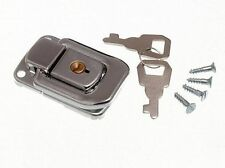 NEW LOCKING CASE CLASP TOGGLE FASTENING TRUNK CATCH & 2 KEYS 48MM 33MM CP (200X)