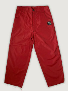 Vintage 90s SNOWFEAR BPSW Baggy Freestyle Red Ski/ Snowboard Pants Mens Large