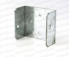 More details for fence panel clips / trellis clip brackets 45mm x 50mm bzp