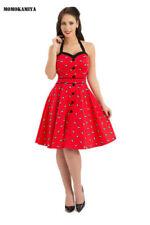 Vestiti da donna rossi in misto cotone taglia 42