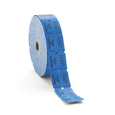 Pm Company Consecutively Numbered Double Ticket Roll Blue 2000 Tickets/Roll