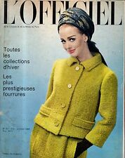 1964 L'Officiel French Fashions - Winter - Cocktail dresses, sweater tops,velour