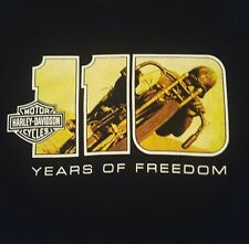 Harley Davidson T-shirt 110 Years of Freedom Harley Museum Black L Milwaukee WI