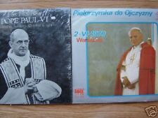Lot 2 Pope LP's Pope John Paul, Polish, unique, strange
