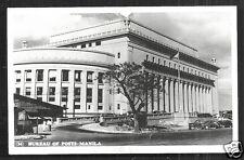 Manila photo postcard Post Office Cars Philippines 50s