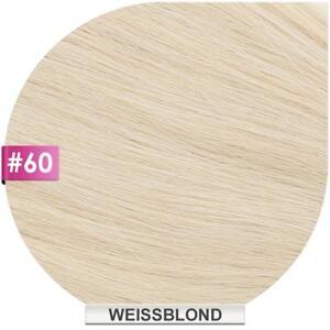 Microring / Loop Hair Extensions (#60 WEISSBLOND) 100% Remy Haarverlängerung
