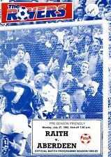 Raith Rovers v Aberdeen 27.7.1992