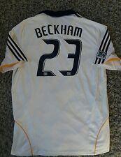 RARE David BECKHAM #23 LA Galaxy Home Football Shirt Jersey 2008 XL Adult Mens