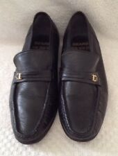"Sears Black Leather Mens Loafers 8 1/2"" D"