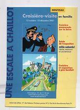 Tintin. Carte postale : Une Escale à Chaillot. 2001. ETAT NEUF