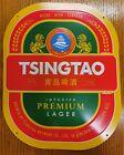 Tsingtao Beer Metal Tins Sign Original