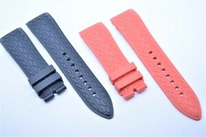 Uhrenarmband 24 mm Rot Anthrazit für Porsche design indicator Regulator band