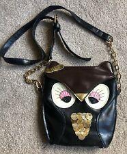 Accessorize owl bag dark brown, black, gold, copper and bronze