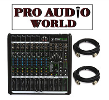 Mackie ProFX12v2 12-Channel Professional FX Mixer with USB + 2X 20FT XLR CABLES
