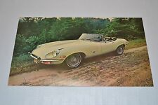 Jaguar E-TYPE Vintage 1971 Roadser Postcard / Brochure NOS XKE Series 2 S II