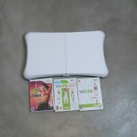 Nintendo Wii Fit Plus with Balance Board Bundle Lot of 3 Games Exercise