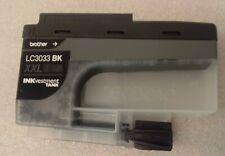 Original Brother LC3033BK XXL Ink Cartridge Black Exp 02 2023 inkvestment tank