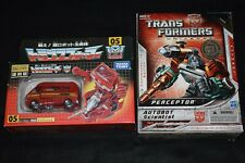 Transformers Encore G1 Ironhide & Universe G1 Perceptor Lot Authentic