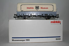MARKLIN GAUGE 1 #85830 MUSEUMSWAGEN 1993 CANVAS COVERED FLAT CAR, BOXED, LOT B