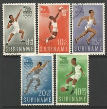 STAMPS-SURINAM. 1960. Olympic Games Rome Set. SG:471/75. Fine Used.