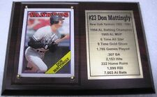 New York Yankees Don Mattingly Baseball Card Plaque