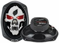 "2) NEW BOSS SKULL SK693 6x9"" 600W 3 Way Coaxial Car Speakers Stereo Audio"