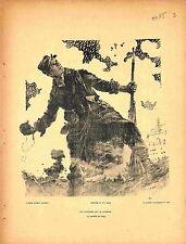 La Journée du Poilus Affiche Guerre Soldat Grenade de Maurice Neumont 1915 WWI