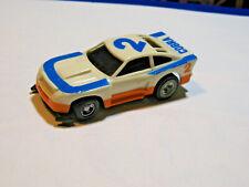 1978 Ideal TCR slot car COBRA MUSTANG #2 WHT/ ORANGE/ BLUE