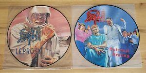 DEATH: Leprosy LP Pic Disc + Spiritual healing LP Pic Disc ORIG. Under One Flag