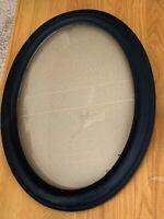 """Vintage/Antique Wooden Frame, Convex Bubble Glass, 23"""" x 17"""""""