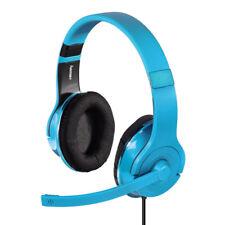Hama PC-Headset mit weicher Stoff-Polsterung Blau-Türkis für Gaming VoiP Skype