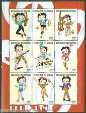 Senegal Betty Boop Set Of Two Heets Sc#141418/1419 Mint Nh As Shown