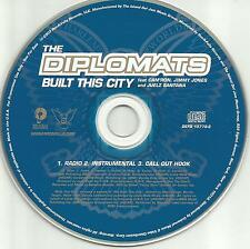 Jim Jones THE DIPLOMATS Built this city RADIO & INSTRUMENTAL PROMO CD single