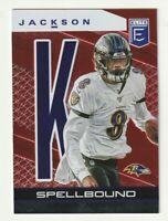 2020 Panini Elite RED Spellbound 'K' Lamar Jackson Baltimore Ravens /99 #29