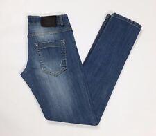 FBN jeans uomo w30 tg 42 44 skinny blu aderenti slim usati usato boyfriend T2359