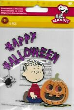 PEANUTS Halloweeen Charlie Brown Linus Comic strip stickers scrapbook crafts