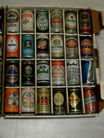 24 ALL DIFFERENT BEER CANS FROM AROUND THE WORLD...... GREAT FOR MAN CAVE OR BAR
